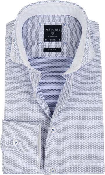 Profuomo Shirt Dessin Blue SF