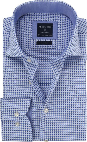 Profuomo Shirt Dessin Royal