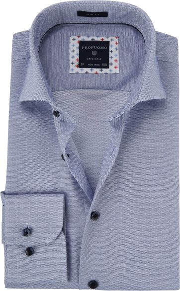 Profuomo Shirt Dobby Blue