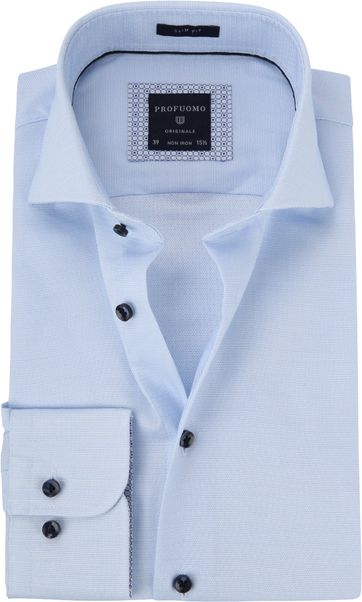Profuomo Shirt Dobby Light Blue