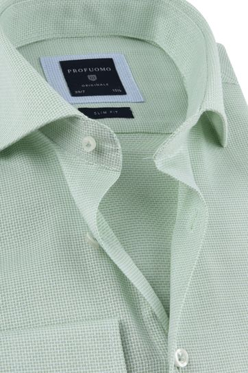Profuomo Shirt Extra Long Sleeve Green