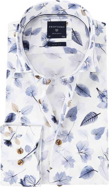 Profuomo Shirt Flower Blue