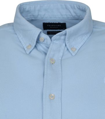 Profuomo Shirt Garment Dyed Button Down Light Blue