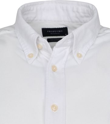Profuomo Shirt Garment Dyed Button Down White