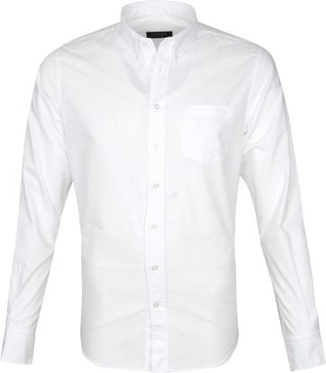 Profuomo Shirt Garment Dyed White