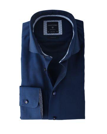 Profuomo Shirt Navy Strijkvrij