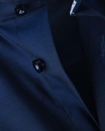 Detail Profuomo Shirt Navy Strijkvrij