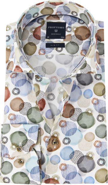 Profuomo Shirt Polka Dot Multicolour