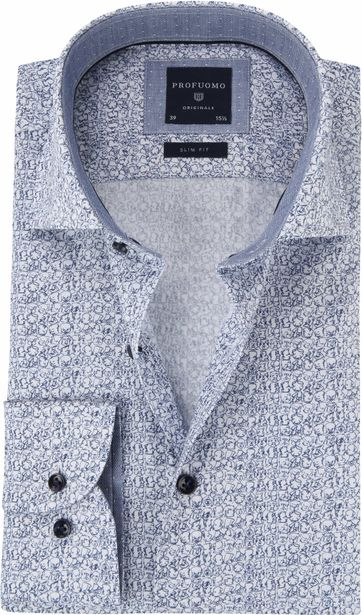 Profuomo Shirt Printed Faces