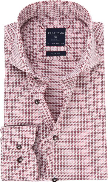 Profuomo Shirt Red Dessin