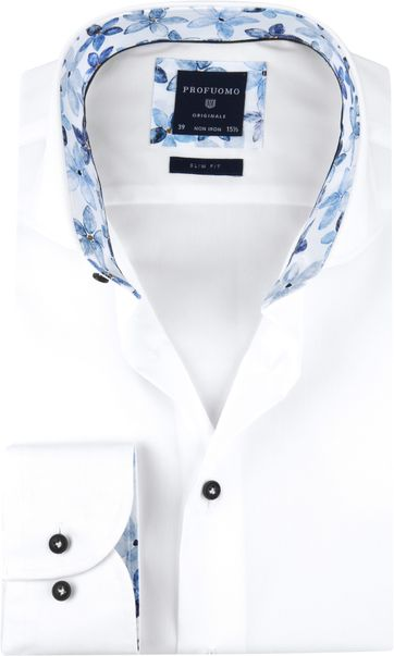 Profuomo Shirt SF Bloemen White