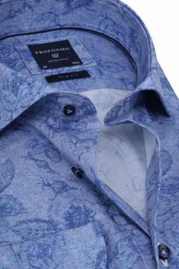 Profuomo Shirt SF Blue Flowers