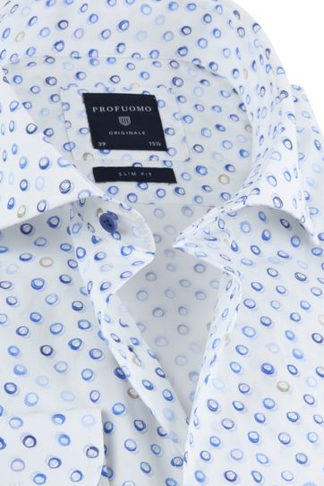 Profuomo Shirt SF Circle Blue