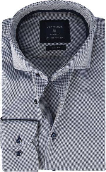 Profuomo Shirt SF Dobby Dark Blue