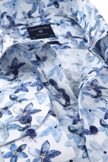 Profuomo Shirt SF Flowerdesign Blue