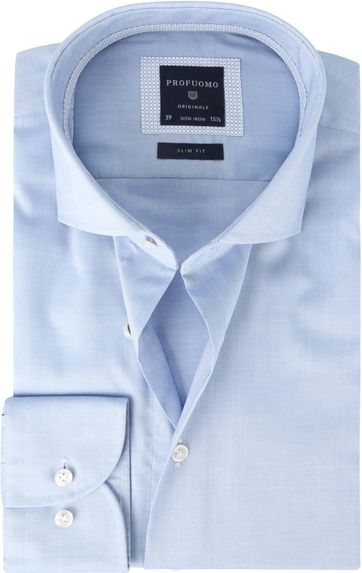 Profuomo Shirt SF Pinpoint Blue