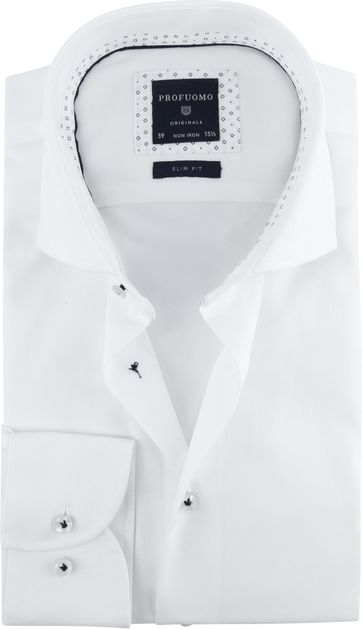 Profuomo Shirt SF Printed White