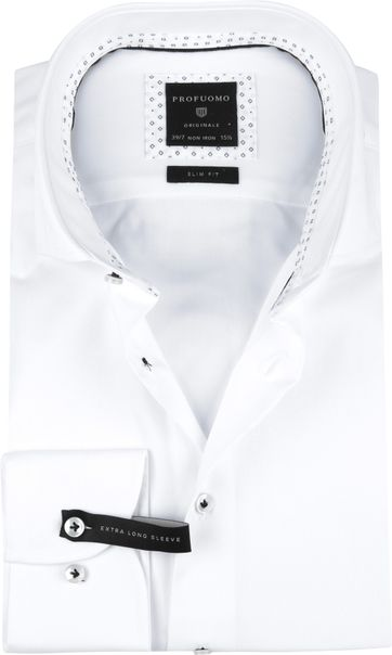 Profuomo Shirt SF SL7 Printed White