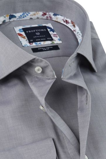Profuomo Shirt SF Twill Grey
