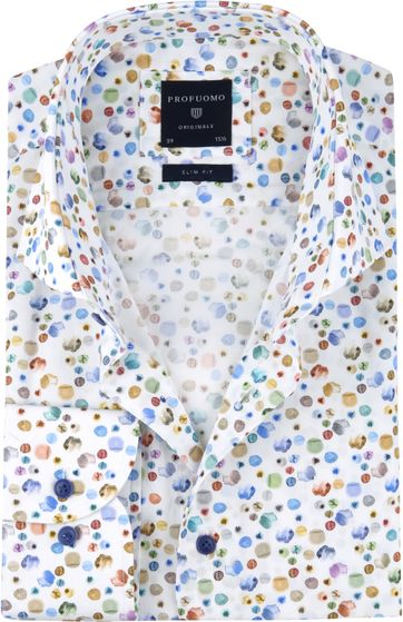 Profuomo Shirt SF Watercolour Dots