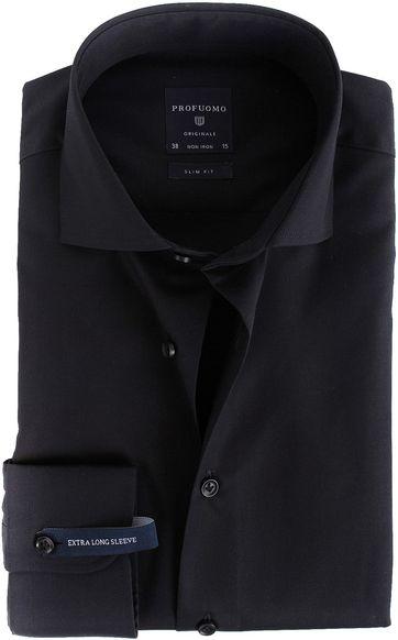 Profuomo Shirt SL7 Cutaway Schwarz