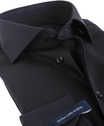 Detail Profuomo Shirt SL7 Cutaway Zwart
