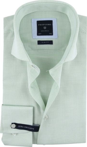 Profuomo Shirt Sleeve 7 Green