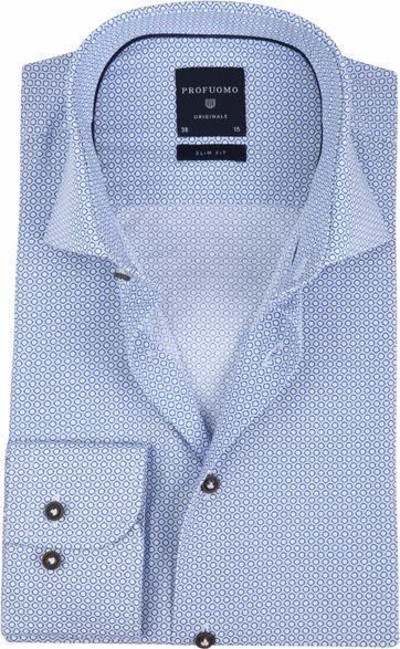 Profuomo Shirt Slim-Fit Blue Design