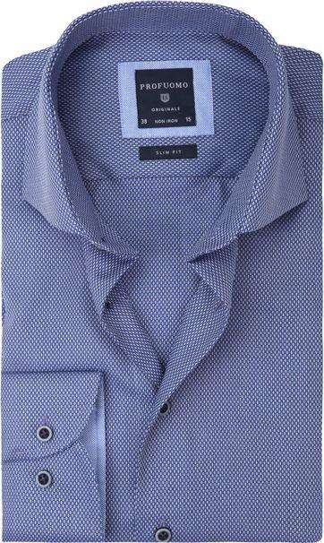 Profuomo Shirt Slim-Fit Non Iron Blue