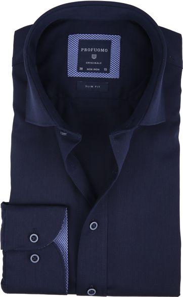 Profuomo Shirt Uni Navy