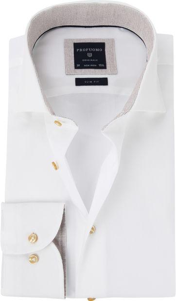 Profuomo Shirt White Fine Twill