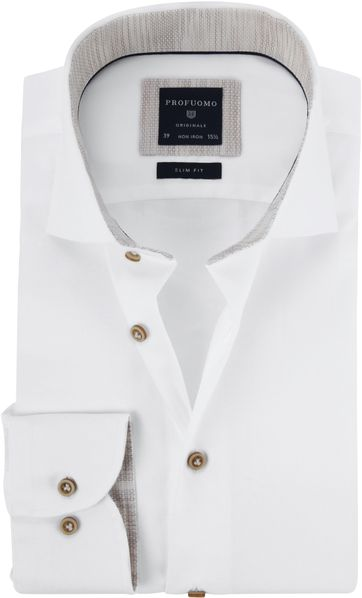 5d0c67a5180 Profuomo Shirt White Twill CAW