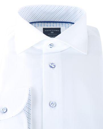 Detail Profuomo Shirt Wit Cutaway