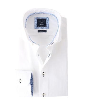 Profuomo Shirt Wit Strijkvrij