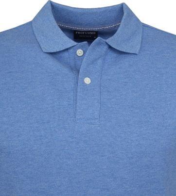 Profuomo Short Sleeve Polo Blauw