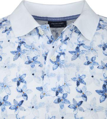 Profuomo Short Sleeve Polo Bloemen Blauw