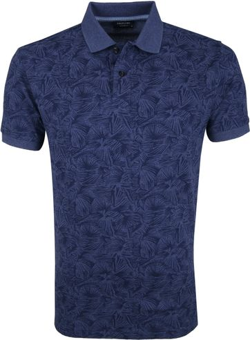 Profuomo Short Sleeve Polo Design Navy