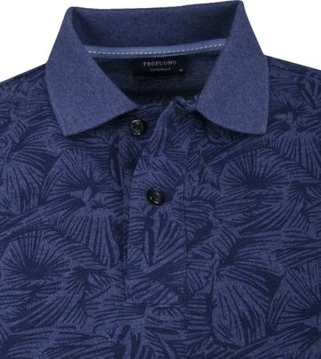 Profuomo Short Sleeve Polo Dessin Navy