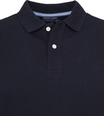 Profuomo Short Sleeve Polo Navy