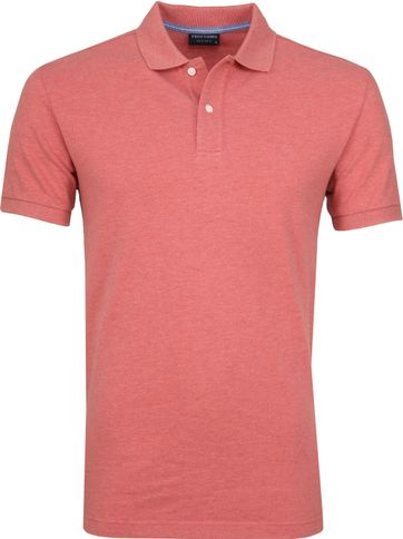 Profuomo Short Sleeve Polo Rood