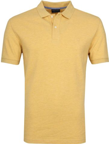 Profuomo Short Sleeve Polo Shirt Yellow
