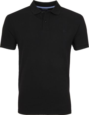 Profuomo Short Sleeve Polo Zwart