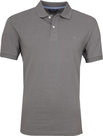 Profuomo Short Sleeve Poloshirt Grey