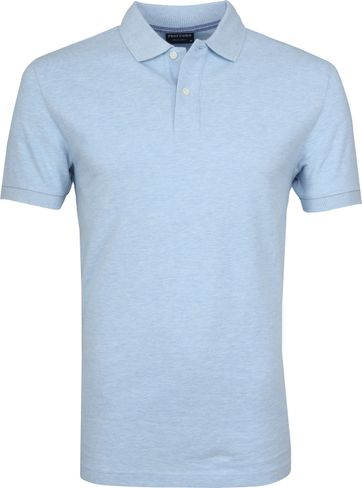 Profuomo Short Sleeve Poloshirt Hellblau