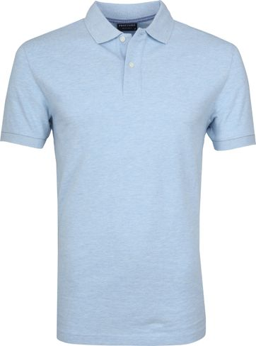 Profuomo Short Sleeve Poloshirt Light Blue