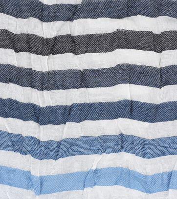 Detail Profuomo Sjaal Blauw Wit Streep