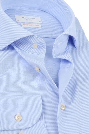 Profuomo Sky Blue SF Overhemd Blauw