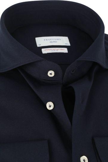 Profuomo Sky Blue SF Overhemd Donkerblauw