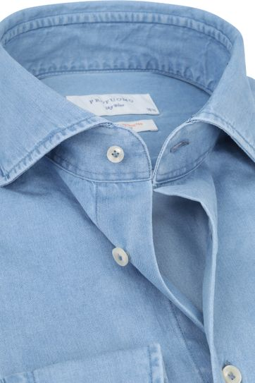 Profuomo Sky Blue SF Shirt Denim Light Blue