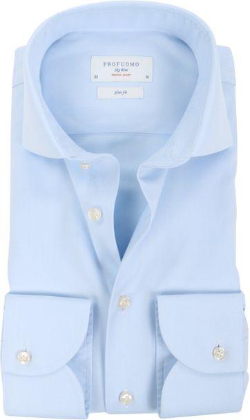 Profuomo Sky Blue Travel Shirt Blau